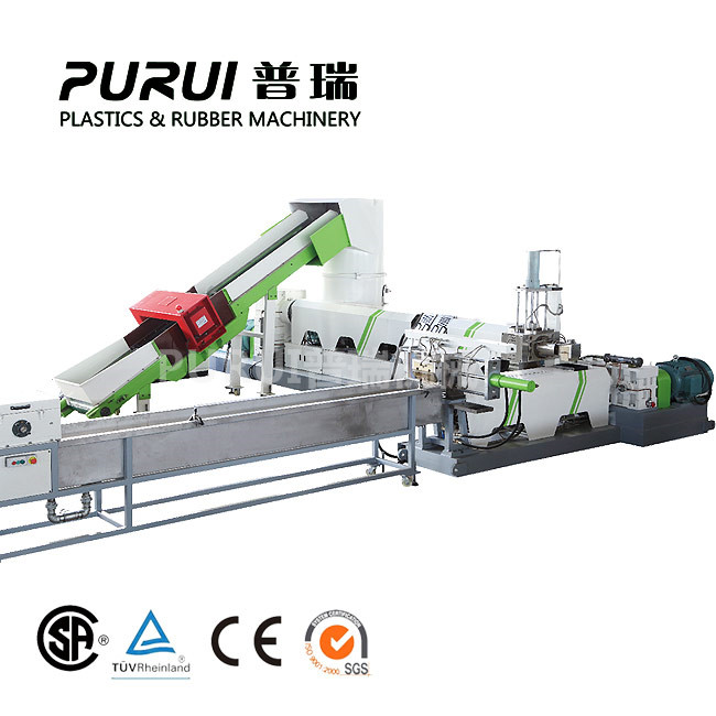 Non woven material recycling granulation machine