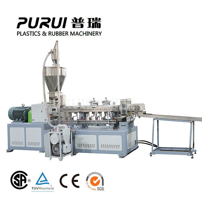 Double screw extruder compounding machine